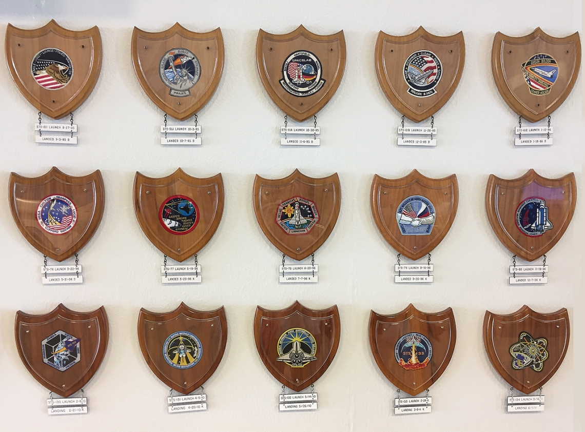 space shuttle launch patches